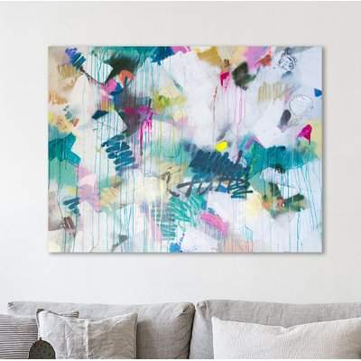 Wayfair 'Spray Me' Acrylic Painting Print on Wrapped Canvas