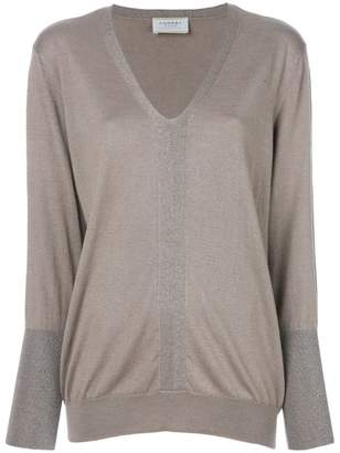 Snobby Sheep fitted v-neck sweater