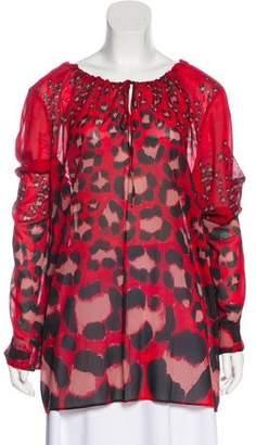 Just Cavalli Silk Printed Tunic