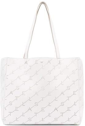 Stella McCartney White small logo tote bag