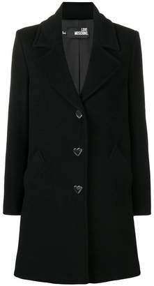 Love Moschino classic single breasted coat