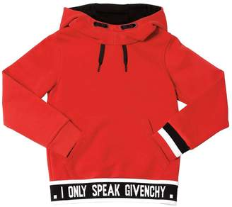 Givenchy Hooded Cotton Blend Sweatshirt