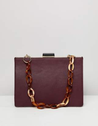 Asos Design DESIGN frame bag with statement chain