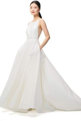 Jenny Yoo JENNY BY Ashton Plunge Back A-Line Gown