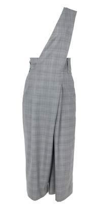 Tibi Cooper Silk Wool Asymmetrical Jumpsuit