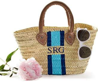 Hand-Painted Straw Beach Bag