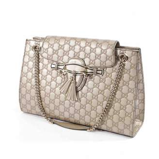 b9fd3ada40d0 Gucci Emily Gold Leather Handbag