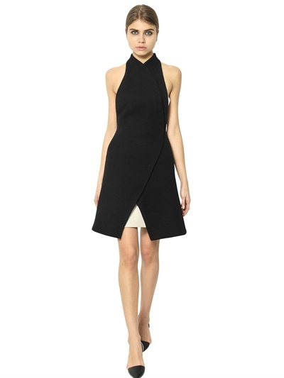 Proenza Schouler Nappa Leather & Wool Crepe Dress