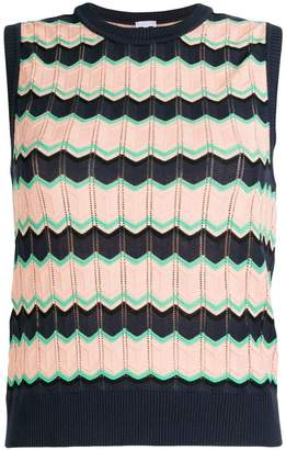 M Missoni sleeveless jacquard knit sweater