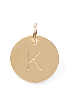 Nashelle K Initial Disc Necklace Charm