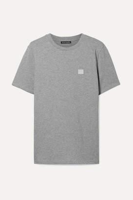 Acne Studios Ellison Appliquéd Cotton-jersey T-shirt - Light gray