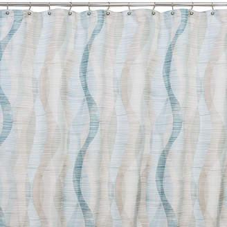 Saturday Knight Sketchbook Waves Shower Curtain