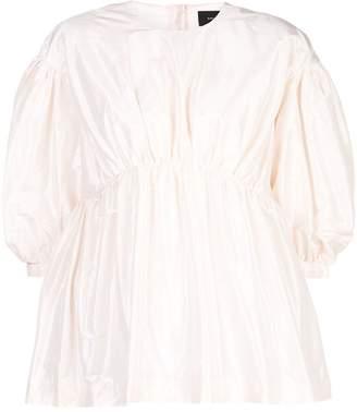 Simone Rocha puffed half-sleeved blouse