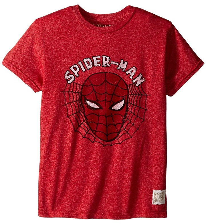 The Original Retro Brand Kids Spiderman Mock Twist Short Sleeve Tee (Little Kids/Big Kids)