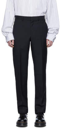 Comme des Garcons Homme Deux Homme Deux Black Tropical Wool Trousers