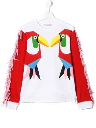 Stella McCartney TEEN bird print sweatshirt