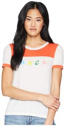 RVCA LP Short Sleeve T-Shirt Women's T Shirt