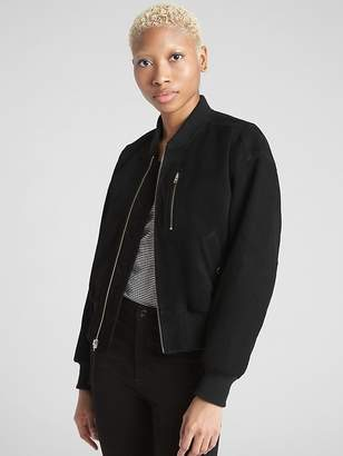 Gap Suede Bomber Jacket