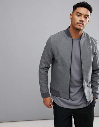 Lacoste Sport Textured Bomber Jacket in Gray