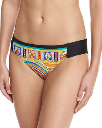 Trina Turk Nepal Shirred-Side Hipster Swim Bottom $68 thestylecure.com