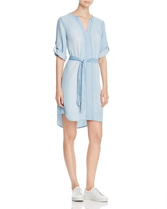 Side Stitch Chambray Roll Sleeve Dress $148 thestylecure.com