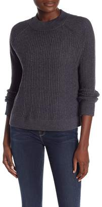 Frame Wool Blend Ribbed Knit Sweater