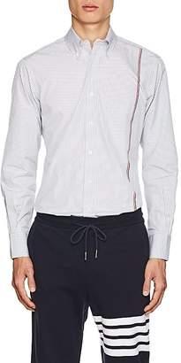 Thom Browne Men's Striped Cotton Poplin Shirt