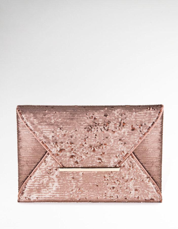 BCBGMAXAZRIA Harlow Sequined Envelope Bag
