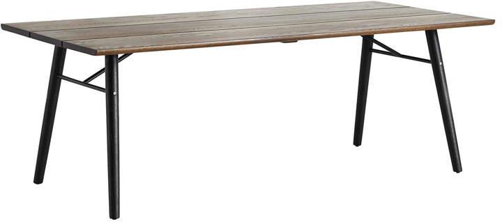 Woud - Split Dining Table, Eiche geräuchert / schwarz