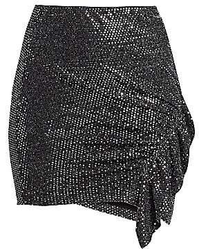 IRO Women's Lilie Sequin Ruffle Mini Skirt
