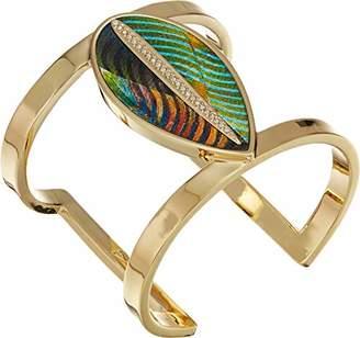 Vince Camuto Women's Leaf Leather Cuff Bracelet