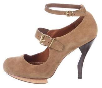 Lanvin Suede Mary Jane Pumps