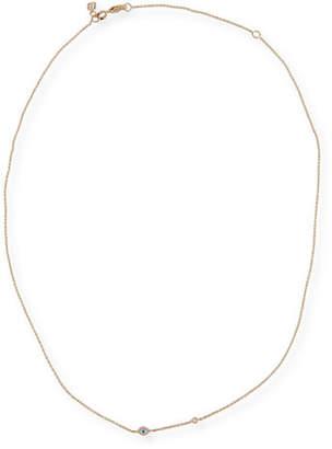 Sydney Evan 14k Gold Evil Eye Necklace with Single Diamond