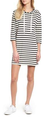 Lou & Grey Striped Hoodie Dress