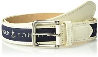 Tommy Hilfiger Men's Men's Ribbon Inlay Belt