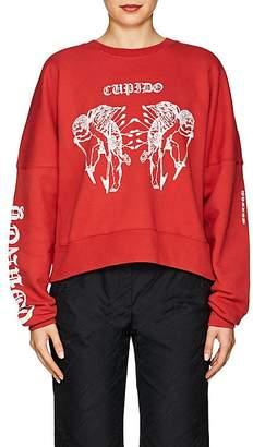 "Marcelo Burlon County of Milan Women's ""Cupido"" Cotton Fleece Sweatshirt"