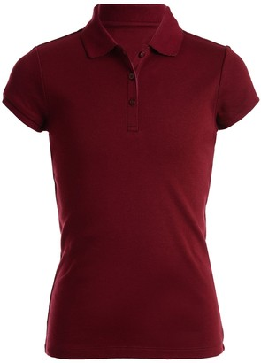 Chaps Girls 4-16 & Plus School Uniform Picot Polo Shirt