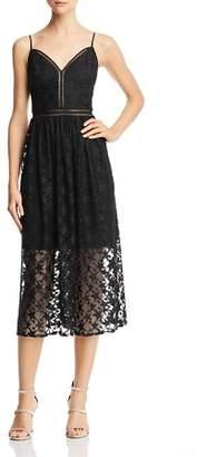 Betsey Johnson Star-Lace Midi Dress