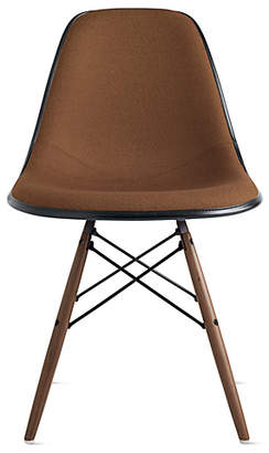 Design Within Reach Eames Molded Fiberglass Upholstered Dowel-Leg Side Chair (DFSW)