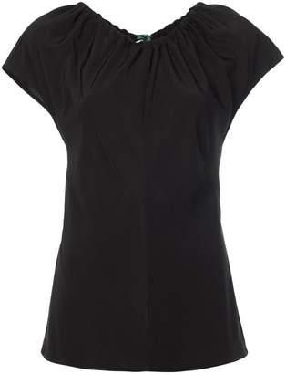 Diane von Furstenberg gathered neck blouse