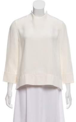 Celine Silk Three-Quarter Sleeve Top w/ Tags