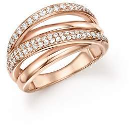 Bloomingdale's Diamond Crossover Ring in 14K Rose Gold, 0.50 ct. t.w. - 100% Exclusive