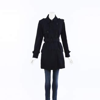 Moncler Blue Polyester Trench coats