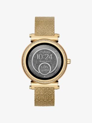 Michael Kors Sofie Gold-Tone Smartwatch Strap