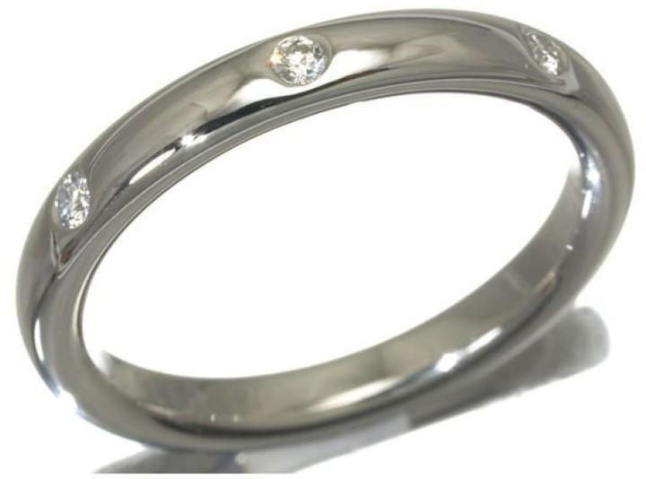 Van Cleef & ArpelsVan Cleef & Arpels 950 Platinum Diamond Anfini Etoile Ring Size 5