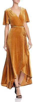 Aqua Velvet Maxi Wrap Dress - 100% Exclusive