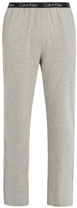 Calvin Klein Underwear Logo Print Stretch Cotton Pyjama Trousers - Mens - Grey