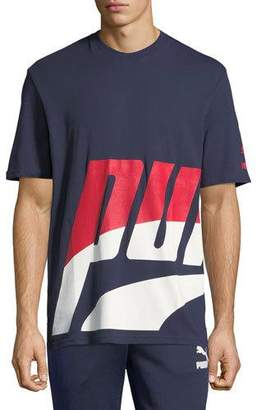 Puma Men's Loud Pack Graphic Logo T-Shirt