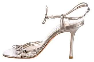 Jimmy Choo Metallic Multistrap Sandals