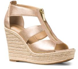 MICHAEL MICHAEL KORS Damita Leather Espadrille Wedges $110 thestylecure.com